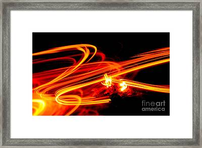 Playing With Fire 4 Framed Print by Cheryl McClure
