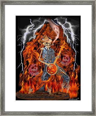 Playing With Fire Framed Print by Glenn Holbrook