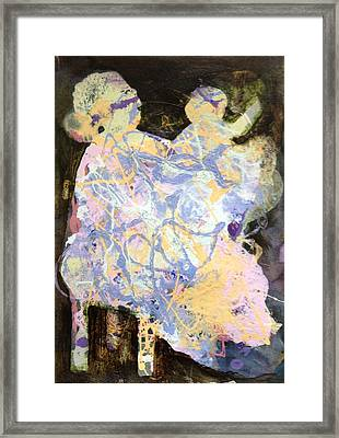 Playing With Grandma Framed Print by Marilyn Jacobson