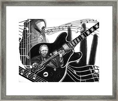 Playing With Lucille - Bb King Framed Print