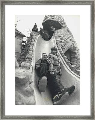 Playing With The Monster Framed Print by Retro Images Archive
