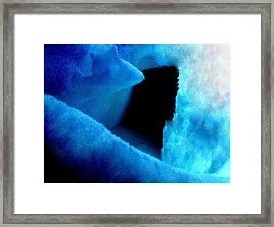 Playing With The Snow And Ice Kappl Mountain Austria  Framed Print by Colette V Hera  Guggenheim