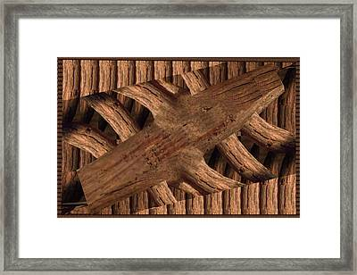 Playing With Wood Wooden Decorations Carving Graphically Engaged Design Framed Print