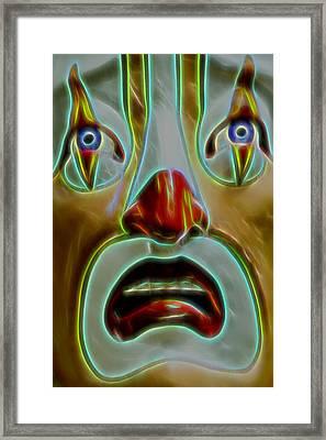 Playland Clown Framed Print by Bill Gallagher