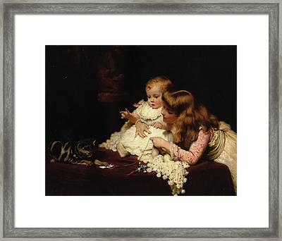 Playmates Framed Print by Charles Burton Barber