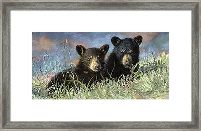 Playmates Framed Print by Lucie Bilodeau
