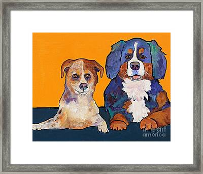 Playmates Framed Print by Pat Saunders-White