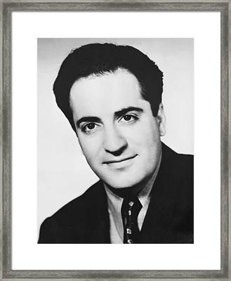 Playwright William Saroyan Framed Print by Underwood Archives