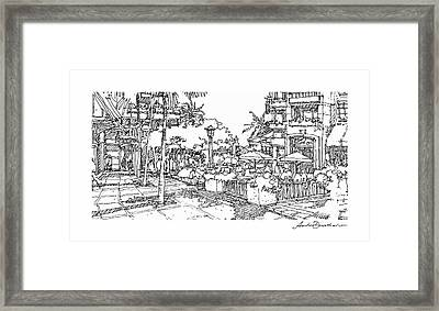 Framed Print featuring the drawing Plaza by Andrew Drozdowicz