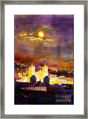 Plaza De Armas- Cusco Framed Print by Ryan Fox