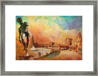 Plaza De Espana Seville Framed Print by Catf
