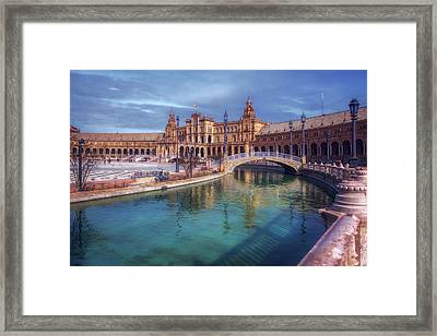 Plaza De Espana Seville II Framed Print by Joan Carroll