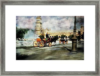 Plaza De Espana Square Framed Print