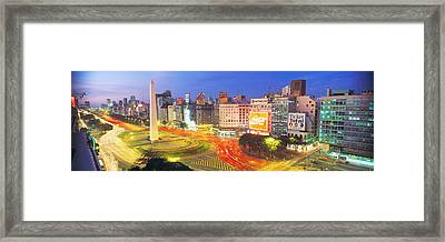 Plaza De La Republica, Buenos Aires Framed Print by Panoramic Images