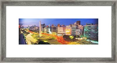 Plaza De La Republica, Buenos Aires Framed Print