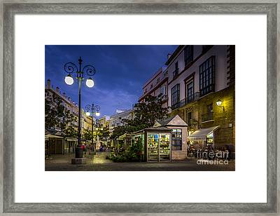 Plaza De Las Flores Cadiz Spain Framed Print