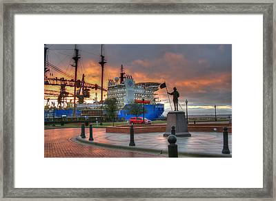 Plaza De Luna Framed Print by David Troxel