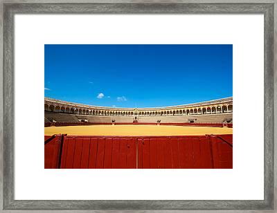 Plaza De Toros Framed Print by Francesco Riccardo  Iacomino