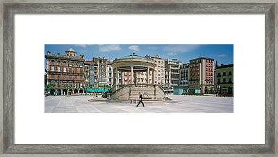 Plaza Del Castillo, Pamplona, Spain Framed Print by Panoramic Images