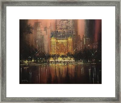 Plaza Hotel New York City Framed Print by Tom Shropshire