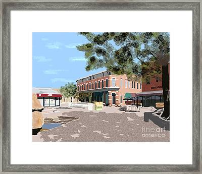 Plaza Framed Print by James Cole