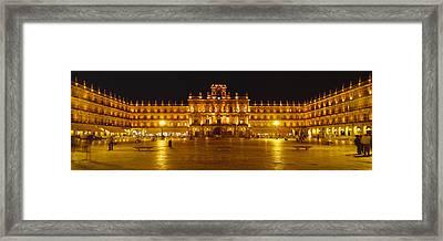 Plaza Mayor Castile & Leon Salamanca Framed Print