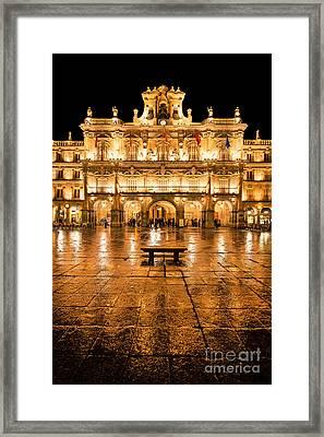 Plaza Mayor In Salamanca Framed Print