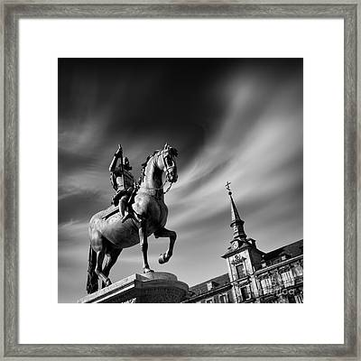 Plaza Mayor - Madrid Framed Print by Rod McLean