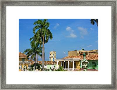 Plaza Mayor, Trinidad, Unesco World Framed Print by Keren Su