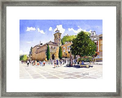 Plaza Nueva Framed Print by Margaret Merry