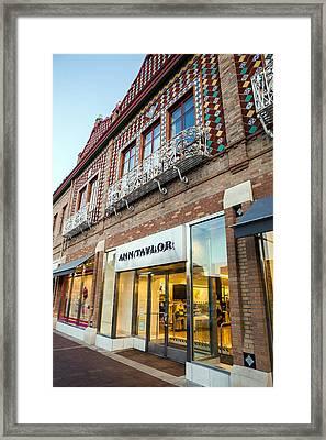 Plaza Store Framed Print