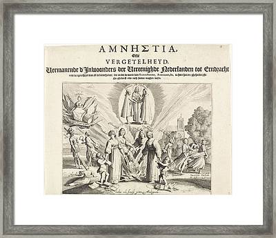 Pleading For Unity And Reconciliation, 1623 Framed Print
