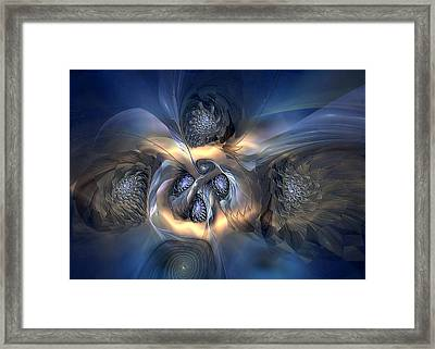 Framed Print featuring the digital art Pleasant Effusion by Casey Kotas