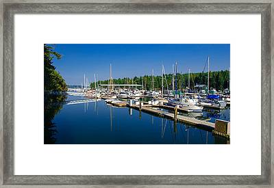 Pleasant Harbor Framed Print
