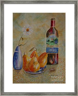 Pleasant Hill Winery Framed Print by Tamyra Crossley