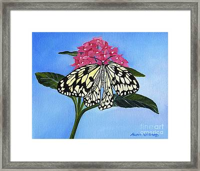 Pleasant Sighting Framed Print by Maria Williams