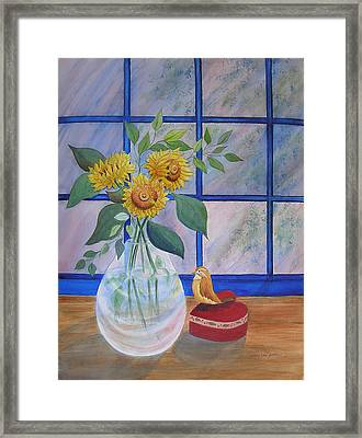Pleasant Surprise Framed Print by Laura Nance