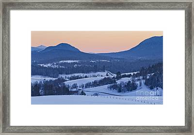 Pleasant Valley Winter Twilight Framed Print