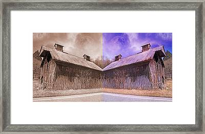 Pleasant View Country Barns Framed Print