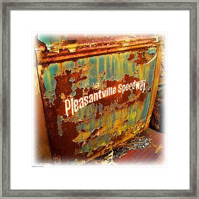 Pleasantville Speedway Framed Print