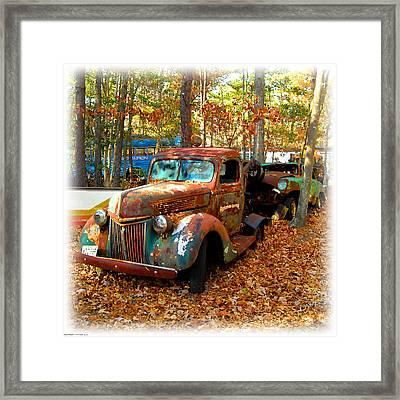 Pleasantville Speedway Tow Truck Framed Print