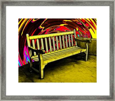 Please Be Seated Framed Print by Wendy J St Christopher
