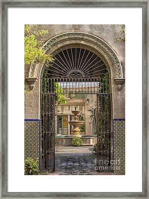 Please Come In Framed Print by Sandra Bronstein