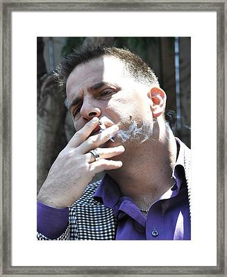Please Don't Smoke Framed Print