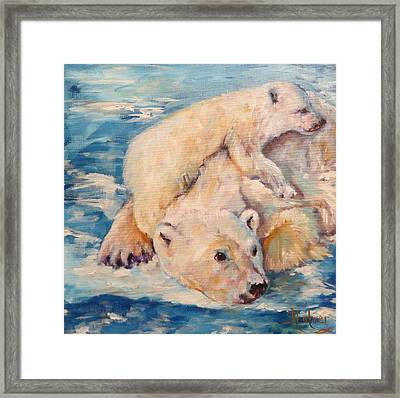 You Need Another Nap, Polar Bears Framed Print