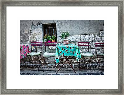 Please Have A Seat Framed Print by Delphimages Photo Creations