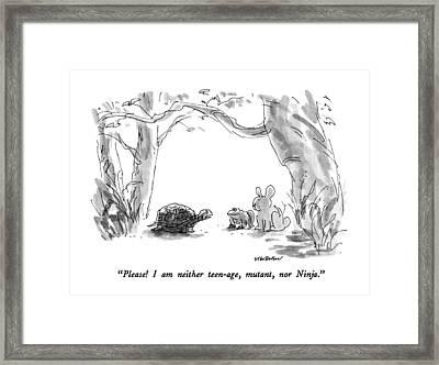 Please!  I Am Neither Teen-age Framed Print by James Stevenson