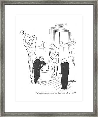 Please, Martin, Can't You Lean Somewhere Else? Framed Print by  Alain