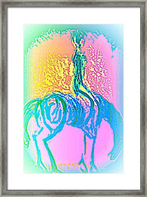 please please me or I will leave you behind and never look back  Framed Print by Hilde Widerberg