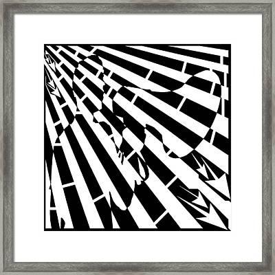 Please Step Away Maze  Framed Print by Yonatan Frimer Maze Artist